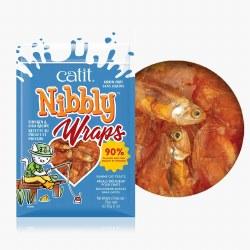 Catit - Cat Treats - Nibbly Wraps - Chicken & Fish - 1 oz