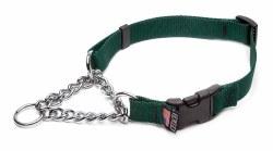 Cetacea - Chain Martingale Collar - Forest Green - Medium