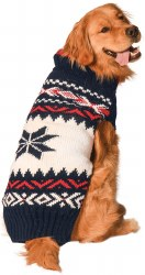Chilly Dog - Apres Ski Dog Sweater - Navy Vail - Large