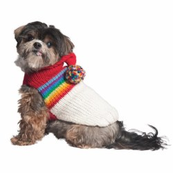 Chilly Dog - Apres Ski Dog Sweater - Vintage Ski Hoodie - Large