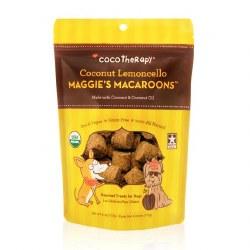 CocoTherapy - Dog Treats - Maggie's Macaroons - Coconut Lemoncello - 4 oz