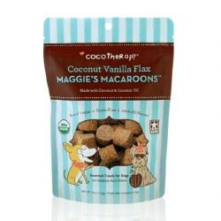 CocoTherapy - Dog Treats - Maggie's Macaroons - Coconut Vanilla Flax - 4 oz