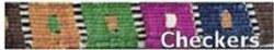 "Color Pet - Maya Cat Collar - Check - 7""-12"""