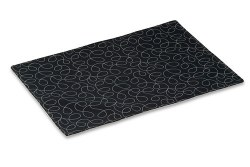 Crypton Placemat - Loopy - Black - 26x18""