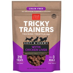 Cloud Star Tricky Trainers - Grain Free Chewy Liver Flavor - Dog Treats - 12 oz