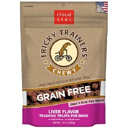 Cloud Star Tricky Trainers - Grain Free Chewy Liver Flavor - Dog Treats - 5 oz
