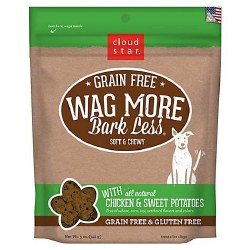 Cloud Star - Dog Treats - Wag More Bark Less - Grain Free Soft & Chewy Chicken & Sweet Potato - 5 oz