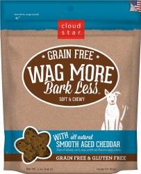 Cloud Star Wag Bark Less - Grain Free Soft & Chewy Smooth Aged Cheddar - Dog Treats - 5 oz