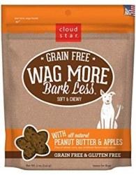 Cloud Star - Dog Treats - Wag More Bark Less - Grain Free Soft & Chewy Peanut Butter & Apple - 5 oz