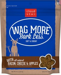 Cloud Star - Dog Treats - Wag More Bark Less - Soft & Chewy Bacon, Cheese & Apples - 6 oz