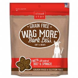 Cloud Star - Dog Treats - Wag More Bark Less - Soft & Chewy Beef & Spinach - 6 oz