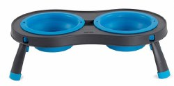 Dexas - Double Elevated Feeder - Pro Blue - 1 cup