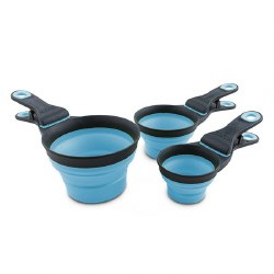 Dexas - Collapsible KlipScoop - 1/2 cup Blue