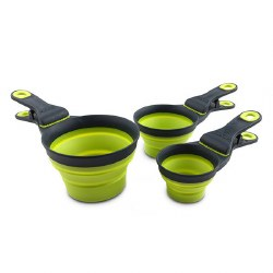 Dexas - Collapsible KlipScoop - 1/2 cup Green