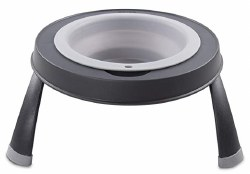 Dexas - Single Elevated Feeder - Light Gray - 4 cups