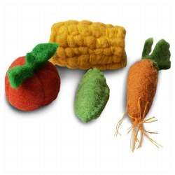 Dharma Dog Karma Cat - Cat Toy - Veggies - 4 pack