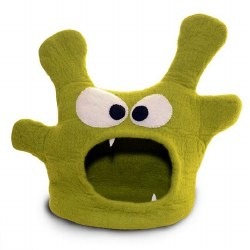 Dharma Dog Karma Cat - Felted Bed - Monster Cave - Green