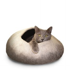 Dharma Dog Karma Cat - Felted Bed - Ombre Cave - Natural