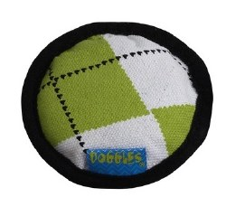 Doggles - Cat Toy - Catnip Disc - Green Argyle