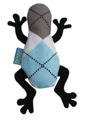Doggles - Cat Toy - Catnip Frog - Blue Argyle