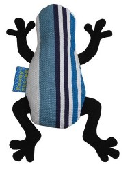 Doggles - Cat Toy - Catnip Frog - Blue Stripe