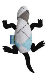 Doggles - Cat Toy - Catnip Lizard - Blue Argyle