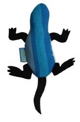 Doggles - Cat Toy - Catnip Lizard - Blue Stripe