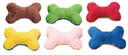 Doggles - Dog Toy - Plush Bones - Assorted