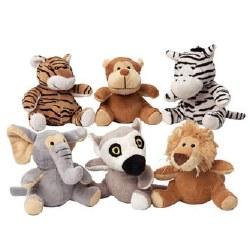 Doggles - Dog Toy - Plush Safari Animals - Assorted