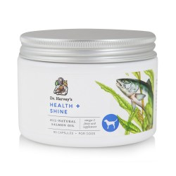 Dr. Harvey's Health & Shine - Fish Oil Capsules - Dog Supplement - 90 ct