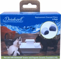 Drinkwell - Fountain Filters - Avalon, Pagoda - 4 pack