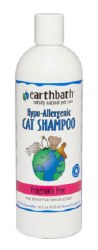 Earthbath - Hypoallergenic Cat Shampoo - Fragrance Free - 16 oz