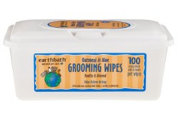 Earthbath - Grooming Wipes for Dogs - Oat and Aloe - 100 ct