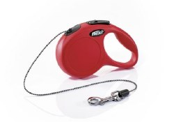 Flexi - Classic Cord Retractable Dog Leash - Red - Extra Small - 10'