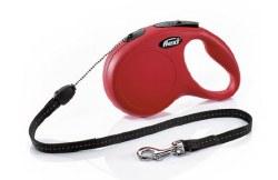 Flexi - Classic Cord Retractable Dog Leash - Red - Medium - 26'