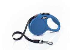 Flexi - Classic Tape Retractable Dog Leash - Blue - Extra Small - 10'