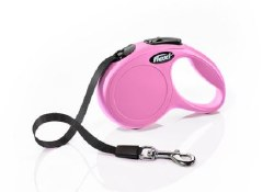 Flexi - Classic Tape Retractable Dog Leash - Pink - Extra Small - 10'