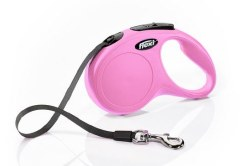 Flexi - Classic Tape Retractable Dog Leash - Pink - Small - 16'