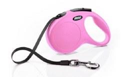 Flexi - Classic Tape Retractable Dog Leash - Pink - Medium - 16'