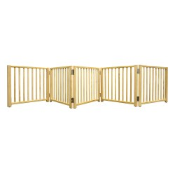 Four Paws - Wooden Free Standing 5 Panel Gate