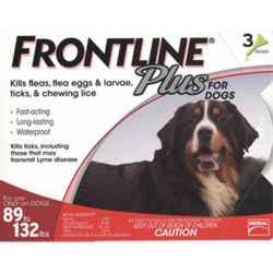 Frontline Plus - 89 to 132 lb Dog - 3 months