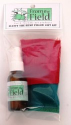 From the Field - Cat Toy - Fluffy the Hemp Pillow Gift Kit with Catnip Spray