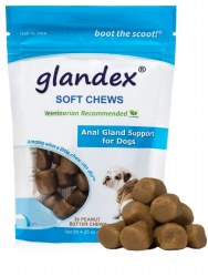 Glandex - Anal Gland Support for Dogs - Peanut Butter Soft Chews - 30ct