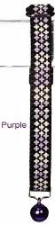 Goli Design - Cat Collar - Reflective Crosses - Purple