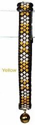 Goli Design - Cat Collar - Reflective Crosses - Yellow