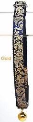 Goli Design - Cat Collar - Flora and Fauna - Gold