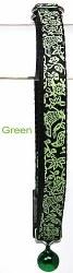 Goli Design - Cat Collar - Flora and Fauna - Green