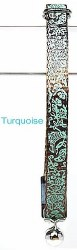 Goli Design - Cat Collar - Flora and Fauna - Turquoise