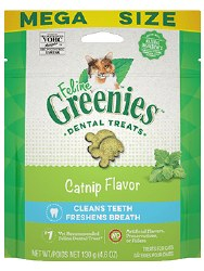 Feline Greenies - Catnip Flavor Dental Treats - Cat Treats - 4.6 oz