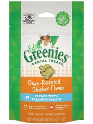 Feline Greenies - Chicken Flavor Dental Treats - Cat Treats - 2.1 oz